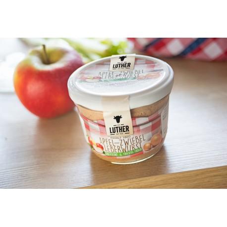 Apfel-Zwiebelleberwurst (180g-Glas)