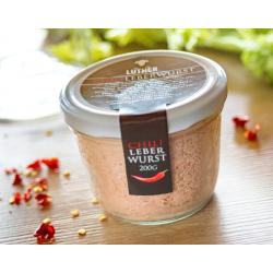 Chili-Leberwurst (200g-Glas)